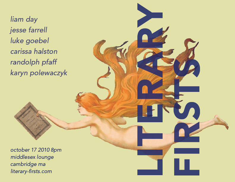 Literary Firsts, October 2010
