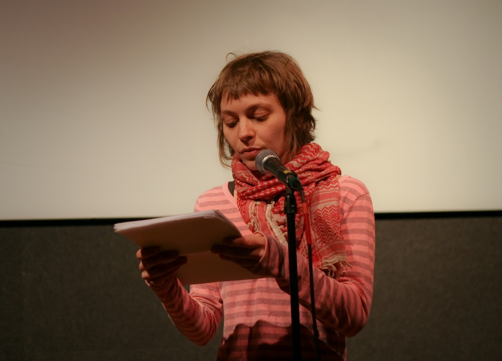 Carolyn Zaikowski reads from a new novel manuscript.